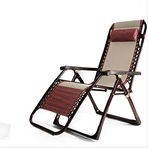 Yuqianqian Tumbona de Playa al Aire Libre para jardín Silla Cuadrada Plegable en negrilla del pie de Lujo Silla Tessforest al Aire Libre Ocio Silla de Playa Silla Silla