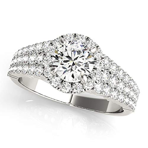 3 Mail order Row Diamond Engagement Ring Womens Outlet SALE R