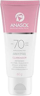 Protetor Facial Anasol Fps 70 Protetor Clareador Toque Seco
