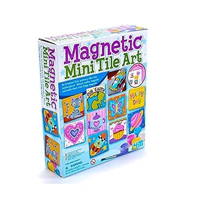 4M Magnetic Mini Tile Art - DIY Paint Arts & Crafts Magnet Kit for Kids - Fridge, Locker, Party Favors, Craft Project Gifts for Boys & Girls