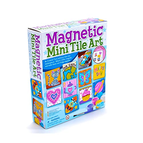 4M 4563 Magnetic Mini Tile Art - DIY Paint Arts & Crafts Magnet Kit for...