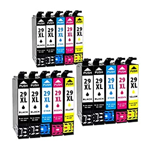 Jagute 29XL Cartuchos de Tinta Reemplazo para Epson 29 XL Tinta, Compatiable con Epson XP-235 XP-245 XP-247 XP-255 XP-332 XP-335 XP-342 XP-345 XP-352 XP-432 XP-435 XP-442 XP-452 XP-455 (29XL-15pack)