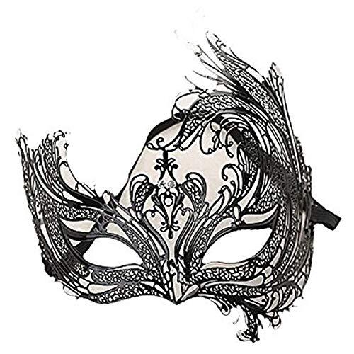 Máscara veneciana negro / blanco para mujer - Perfecto para carnaval, carnaval y baile de disfraces - Disfraz adulto - Unisex Talla única #30