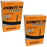 Continental Cross 28 700 x 32-47c Bike Inner Tubes - Presta 60mm Long Valve (Pair)