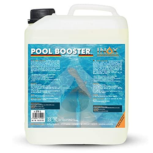 INOX® Pool Booster - 25L - Effektiver Algenvernichter Pool - Flüssiges Algizid für Pool - desinfizierendes Reinigungsmittel gegen Algen - Hochwirksame Pool Chemie