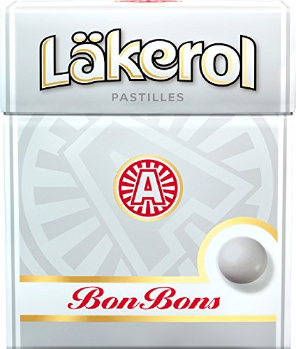 Läkerol BonBons - Lakerol BonBons - Original Schwedisch Zucker Pfefferminze Pastillen Box 25g