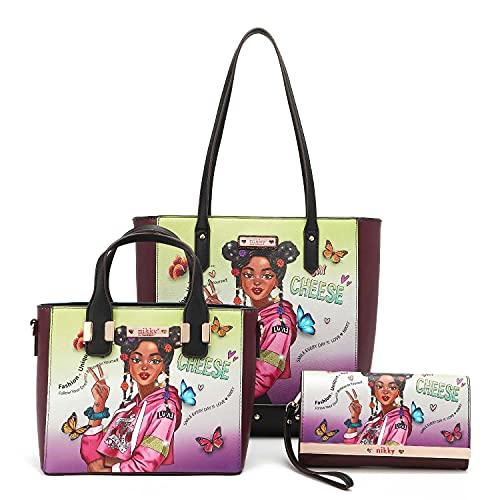Nikky Alyssa Dreams Future Tote Bag 3 Pc Set