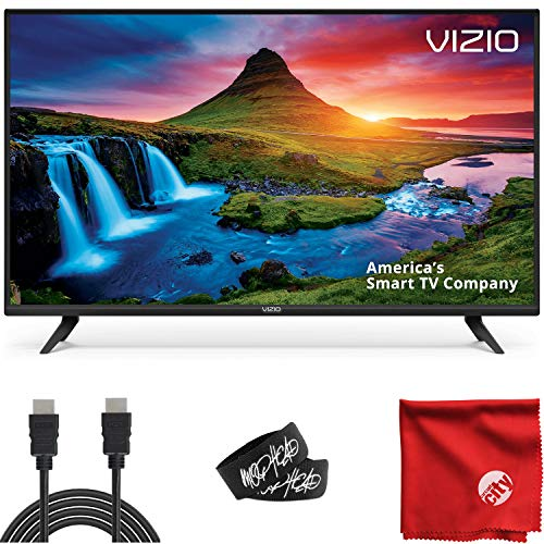 VIZIO D-Series 32-Inch Class 720p LED HDTV Smart TV (D32H-G9) with Built-in HDMI, USB, SmartCast, Voice Control Bundle with Circuit City 6-Foot Ultra High Definition 4K HDMI Cable and Accessories
