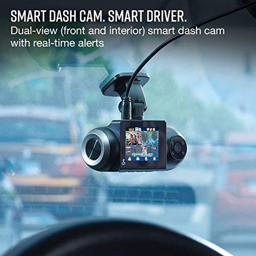 Cobra Smart Dash Cam with Interior Cam (SC 201) - Full HD 1080P Resolution, Built-in WiFi & GPS, 16GB SD Card, 2