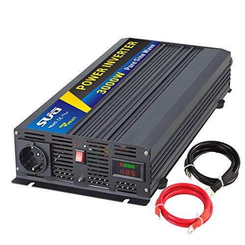 Sug 3000W DC 12V auf AC 220V 230V Wechselrichter Reiner Sinus Spitzenwert 6000W Spannungswandler Power Inverter Pure Sine Wave
