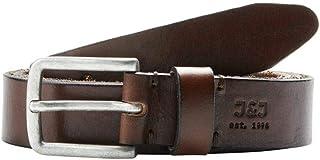 حزام رجالي من JACK & JONES مصنوع من الجلد ماركة JJILE، بني
