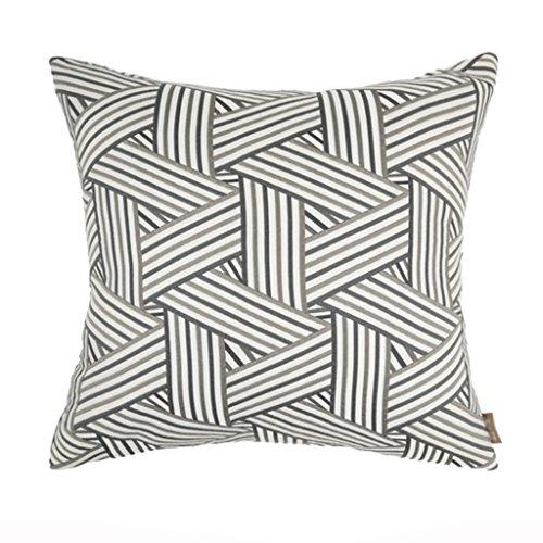 Les coussins ondulés géométriques peuvent soutenir la taille élégant sauvage approprié pour le salon/lit / sofa/chaise (Color : Gray)