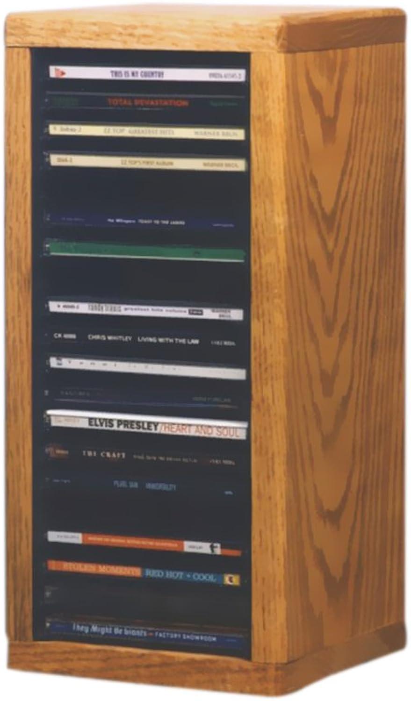 CD or Desktop Oak Solid Furniture Media Cdracks Cabinet