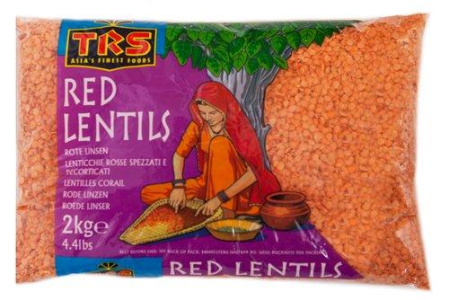TRS Red Lentil (Masoor Dal) - 2kg,Lentilles rouges TRS (Masoor Dal) - 2kg,RiteLinsen-LenticchieRosse