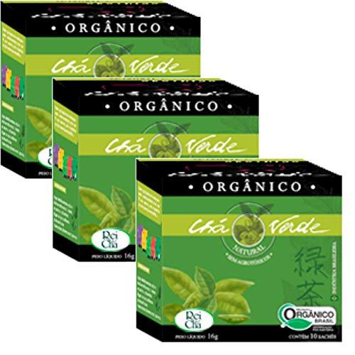 Kit 3cx Chá Verde Orgânico (30 sachês) Campo Verde
