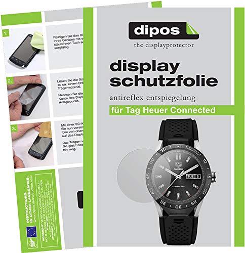 dipos I 6X Schutzfolie matt kompatibel mit Tag Heuer Connected Folie Bildschirmschutzfolie