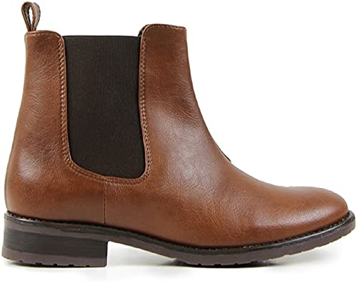 Will's Vegan chaussures Chelsea bottes bottes Chestnut  sortie