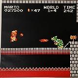 Prolific Art Super Mario Bros Mario vs Bowser Castle Dungeon Scene. 12X12 Inch Wall Decor Picture