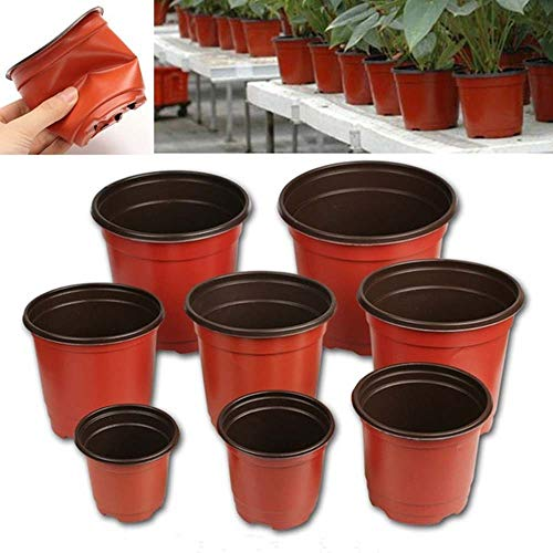 MZY1188 20pcs Mini macetas de plástico para Plantas, Suministros de jardinería macetas de vivero Maceta de plástico Suave de Terracota para vivero con Orificios de Drenaje Maceta