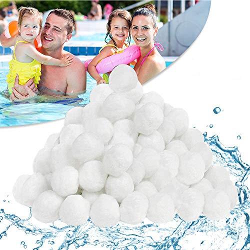 Pool Filterbälle 500g für Leistung von 18kg Filtersand, Poolzubehör Poolreiniger für Sandfilteranlagen, Einsparung von Flockungsmittel, für Pool Glas-und Sandfilteranlage, Tolle Filterwirkung