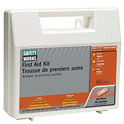 Safety Works 10049585 First Aid Kit, 160-Piece from Safety Works
