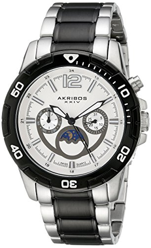 Akribos XXIV Men's AK574TTB Conqueror Swiss Quartz Divers Multi-function Watch