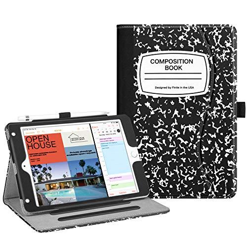 Fintie Case for iPad Mini 5th Gen 2019 / iPad Mini 4 - [Corner Protection] Multi-Angle Viewing Folio Cover w/Pocket, Pencil Holder, Auto Wake/Sleep for iPad Mini 5 / Mini 4,Composition Book Black