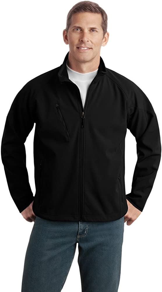 Port Authority Tall Textured Soft Shell Jacket, Black
