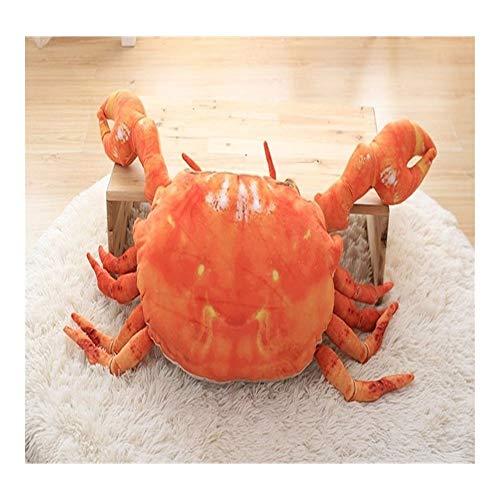 YANGYUAN Almohadas de animales 3D, almohada de peluche de dibujos animados de cangrejo, divertidas almohadas de regalo de cumpleaños, decoración creativa del hogar 60 cm