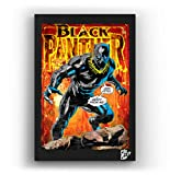 Black Panther (Pantera Negra) Marvel Comics - Pintura Enmarcado Original, Imagen Pop-Art, Impresión ...
