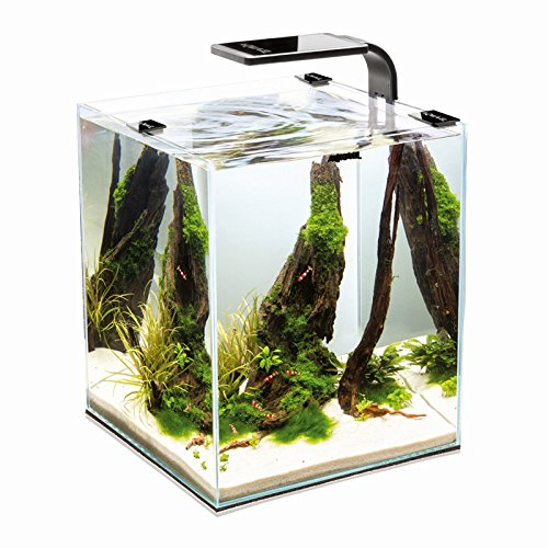 Aquael Shrimp Set Smart 2 10L 19L 30L Nano Aquarium Cube voor garnalen, 19 Liter, wit