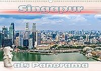 Singapur als Panorama (Wandkalender 2022 DIN A3 quer): Das Zentrum von Singapur als Panorama fotografiert (Monatskalender, 14 Seiten )