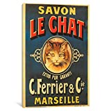 iCanvasART VAC115-1PC6-18x12 Savon Le Chat by Vintage Apple Collection Canvas Print, 18 by 12-Inch, 1.5-Inch Deep