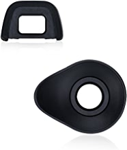 JJC 2 Types DSLR Camera Eyecup Eyepiece Viewfinder for Nikon D7200 D7100 D7000 D5000 D750 D610 D600 D300 D300s D90 D80 Replaces Nikon DK-21 DK-23 Eye Cup -2pack