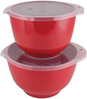 Rosti Lot de 2 saladiers MARGRETHE - Rouge - Environ 2 + 3 l - Avec couvercle - RO-244727 - 8711269864679