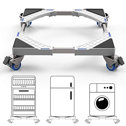GPWDSN Ruedas para electrodomésticos Carrito Ajustable para frigorífico-congelador, Base móvil para Lavadora y minicarro con Ruedas, Soporte Deslizante para Muebles