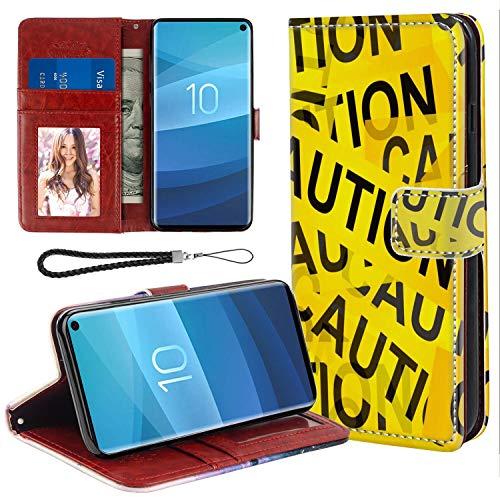 UZEUZA Funda para Samsung Galaxy S10e Premium PU cuero magnético bolsillo caso Kickstand tarjeta titular ranuras con subasta
