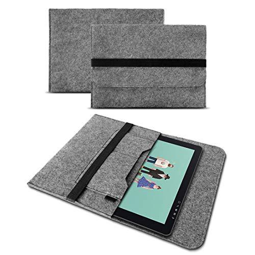 UC-Express Sleeve Filz Tasche Hülle kompatibel für Wacom One 13 Pen Grafiktablett Schutzhülle 13.3 Zoll Cover Hülle Schutz Hülle Stifttablett, Farbe:Grau