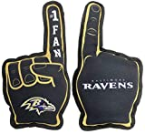 NFL Baltimore Ravens #1 Fan Toy for Dogs & Cats. Best Tough PET Toy with Inner Squeaker.