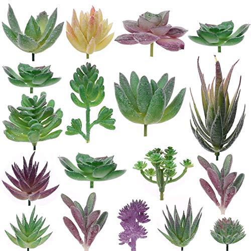 Aiboria 18 piante grasse artificiali, senza vaso, piante grasse artificiali, decorazione realistica per interni ed esterni, per casa, ufficio e feste