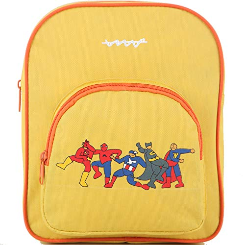 Cállate la boca Mochila infantil Superhero, amarillo, 22x6,5x26