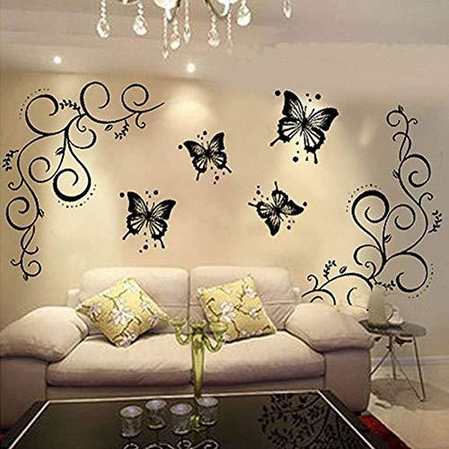 XCWQ muursticker, motief vlinders en leven, om zelf te maken, afneembaar, kunst, decoratie voor thuis
