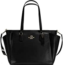 NEW AUTHENTIC COACH BLACK CROSSGRAIN Baby, Diaper, Travel, Large Tote, Crossbody Shoulder Bag