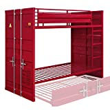 ACME Cargo Bunk Bed (Twin/Twin) - - Red