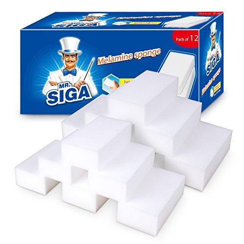 MR.SIGA Melamin Dreckradierer W&erschwamm Reinigungsschwamm Zauberschwamm Für Küche Haushalt, 12 Stück, Größe: 12 x 6 x 3cm