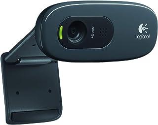 Logitech 960-000694 1280 x 720 C270 Desktop and Laptop Webcam, Black