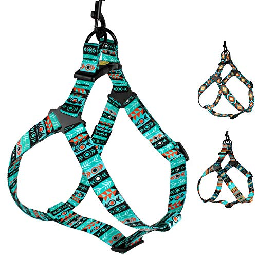 CollarDirect Adjustable Dog Harness Tribal Pattern Step-in Small Medium Large, Comfort Harness for Dogs Puppy Outdoor Walking (Pattern 1, Large)