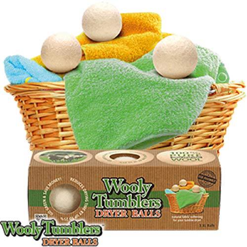 Woolytumblers 3 x Wolliger Bälle Wäschetrockner 100 Prozent Neuseeland Pure Wolle Weichspüler
