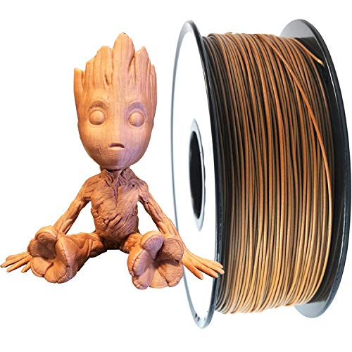 PRILINE 1kg Wood PLA Filament 1.75 3D Printer Filament(The Layer Should be Thicker Than 0.2mm and The Nozzle Should be Bigger Than 0.4mm)