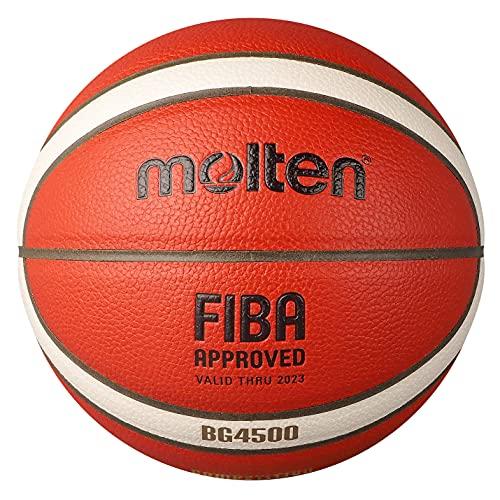 MOLTEN B6G4500 - Balón de Baloncesto, Naranja/Marfil, 6